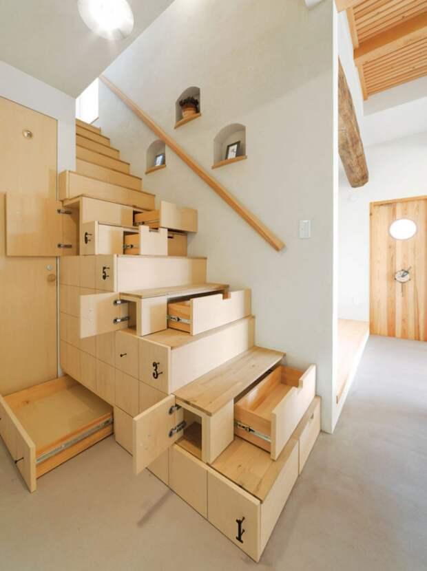 Идеи необычной организации хранения в интерьере