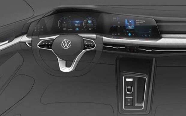 Появились два рисунка нового VW Golf 8. Это будет красиво!