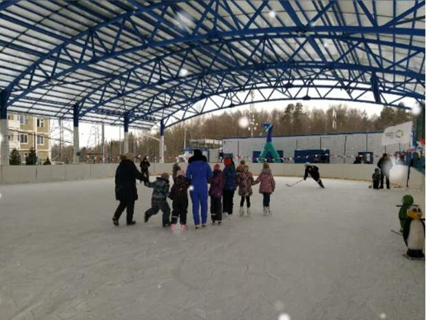 В Северном прошли соревнования по хоккею и ледовые старты