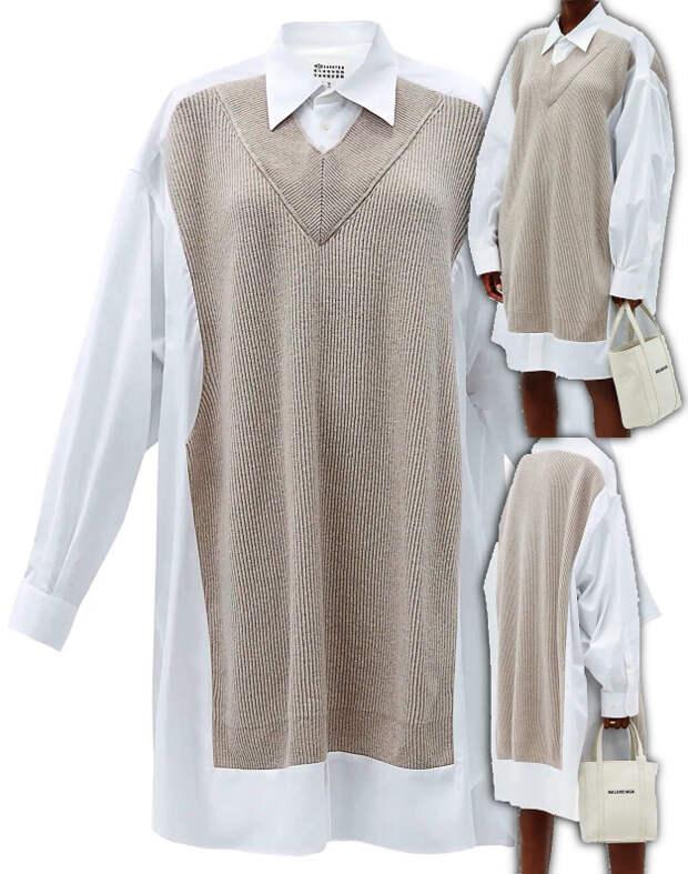 Папина рубашка+папина безрукавка= платье