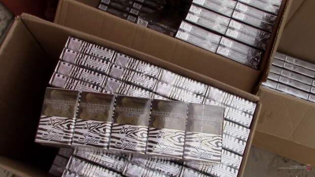 166 тысяч пачек контрабандного табака нашли у жителя Волжского