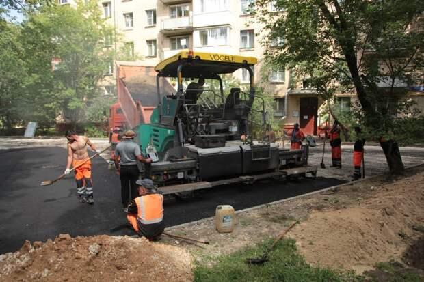 На улице Героев Панфиловцев отремонтируют тротуары и детские площадки
