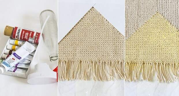 как связать коврик спицами для начинающих