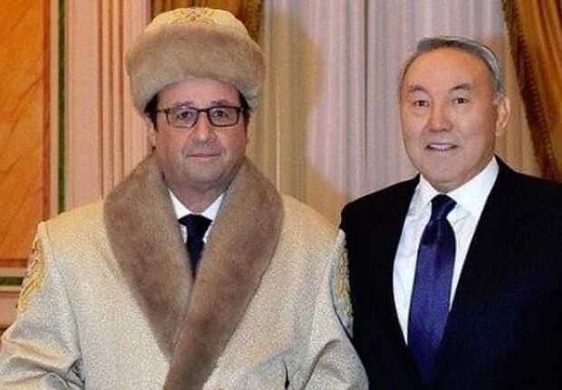 Франсуа Олланд и Нурсултан Назарбаев