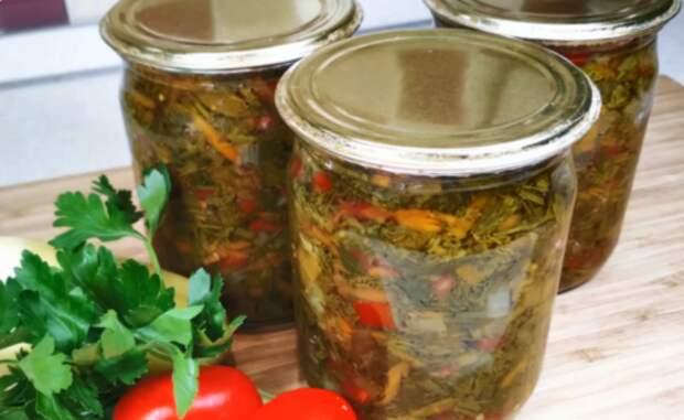 Универсальная овощная заправка на зиму ко всем блюдам: к супам, мясу, рыбе, овощам