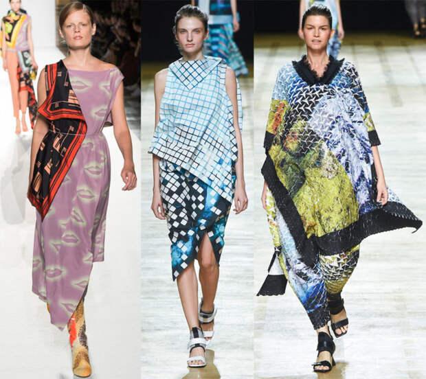 Платья из платков — яркий пример того, как повторяется мода