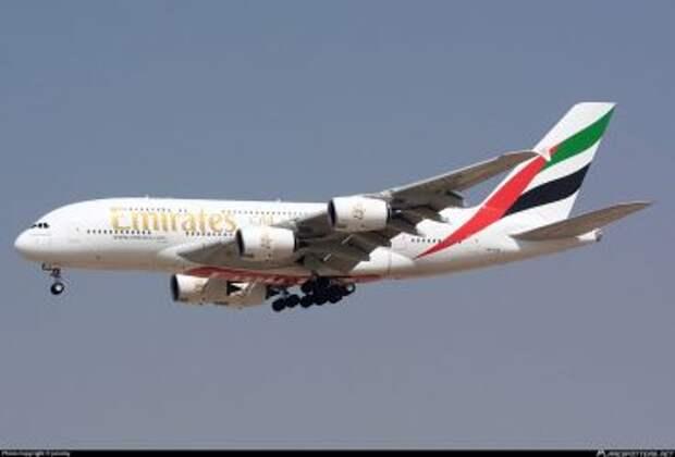 Airbus A380-842 авиакомпании Emirates