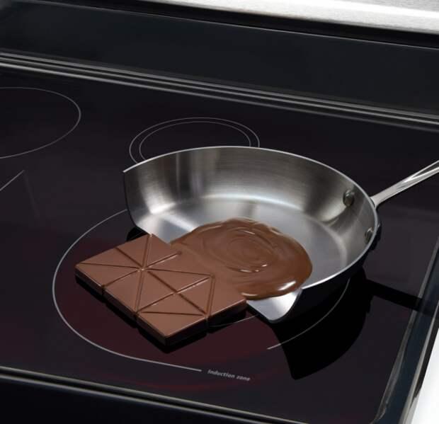 Вы никогда не обожжетесь об поверхность индукционной плиты и никогда не устроите пожар, даже если забудете выключить конфорку, сняв с неё посуду