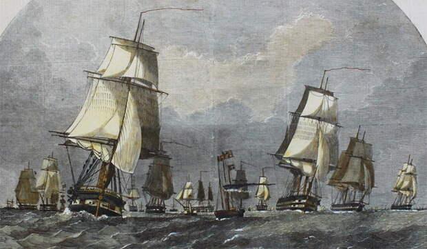 Британский флот, назначенный для действий на Балтике, покидает порт Спидхэд. 1854 год. collectorsworld.net - «Паровые» реформы Адмиралтейства | Warspot.ru