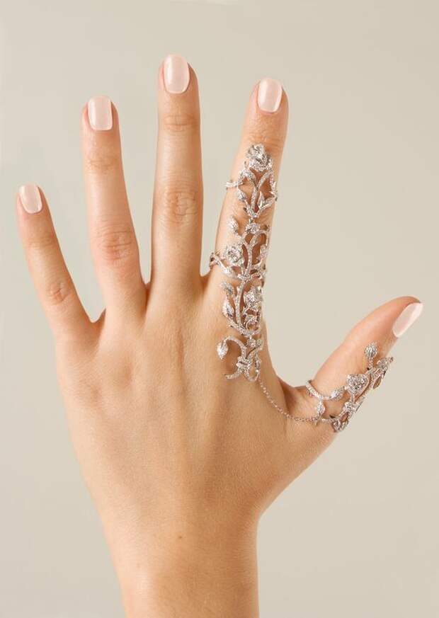 Кольцо на большой и указательный палец