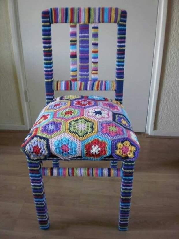 Вязаные стулья (подборка)
