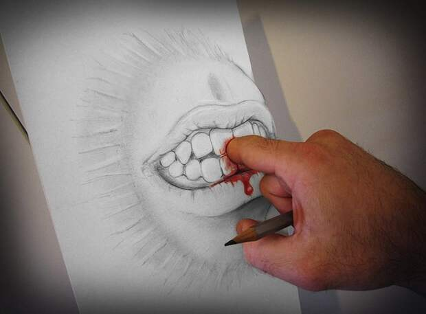 Anamorphdrawings05 Умопомрачительные 3D рисунки