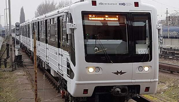 Поезда, сделанные на заводе «Метровагонмаш» Мытищ, курсируют в Будапеште