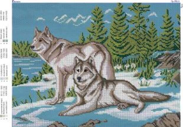 ВЫШИВАЙКА. Вышиваем бисером волков