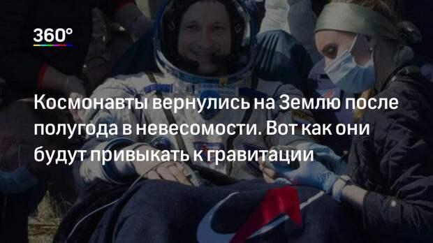 Космонавты вернулись на Землю после полугода в невесомости. Вот как они будут привыкать к гравитации