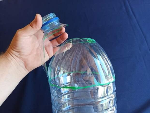Мусорное ведро из пятилитровой пластиковой бутылки, своими руками