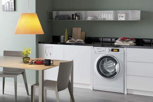 Маленькая кухня со стиральной машинкой. Возможно? Отличные идеи для воплощения