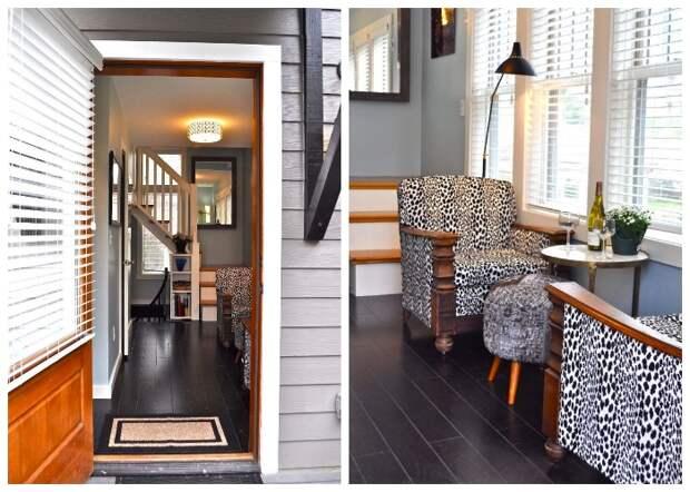 Войдя через внутренний дворик, попадаешь сразу в уютную гостиную (Bird House, штат Северная Каролина).