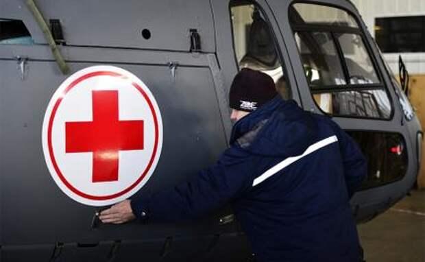 Вертолёт летит в Ерофей