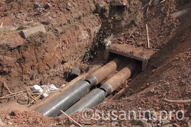 Аварийные работы на водопроводе на улице Гагарина в Ижевске закончат в четверг