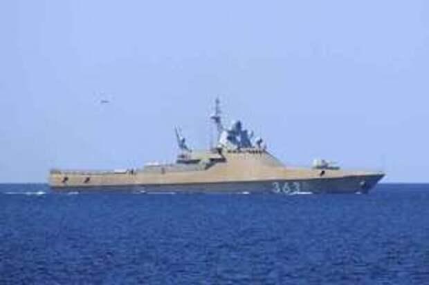 Российский ракетный корвет блокировал украинский флот в Одессе