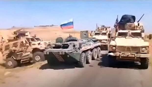 ВС США испугались тарана российским БТР в Сирии