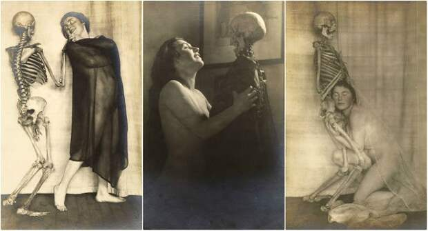Дама со скелетом: сюрреалистический фотосет Франца Фидлера начала 1920‑х годов