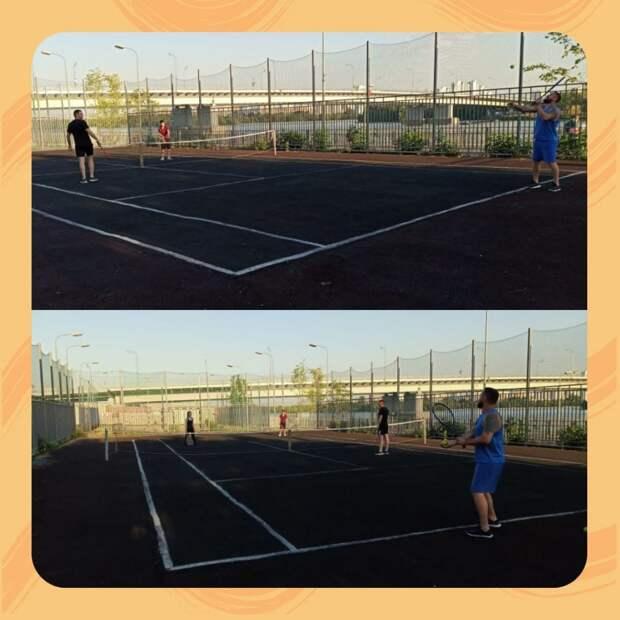 В Южнопортовом проходят бесплатные тренировки по теннису