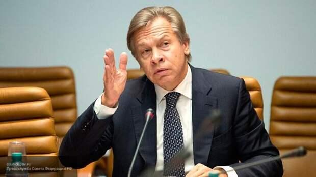Пушков объяснил, почему нельзя верить заявлениям Тихановской