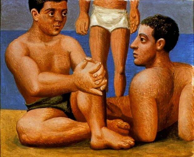 "Пабло Пикассо — ""Два купальщика 1"", 1921 год"