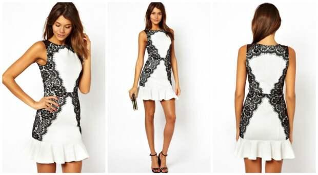 Кружевной декор платьев - 1 подборка