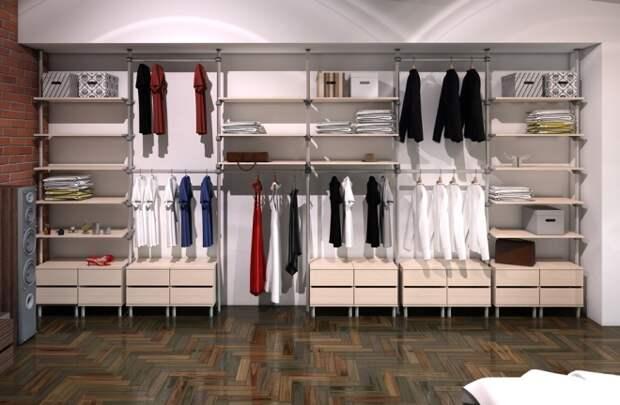 Интерьер гардеробной комнаты: как устроить отдельное помещение под одежду со всеми удобствами (31 фото)