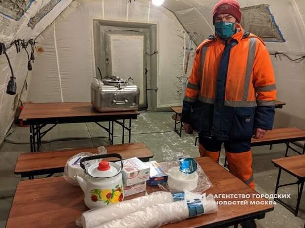 Пункт питания и обогрева водителей открылся на МКАД в Строгине