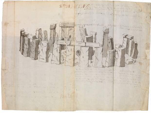 Рисунок Стоунхенджа 1611 года. Фото взято из открытого источника