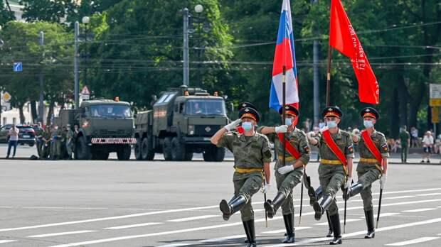 В Каспийске состоялась генеральная репетиция парада Победы