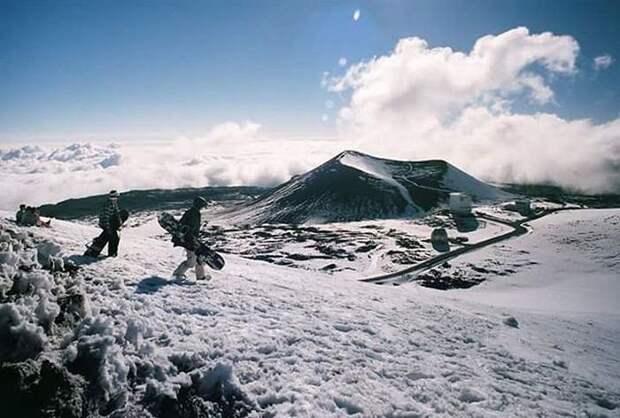 Снегопад на Гавайях (10 фото)