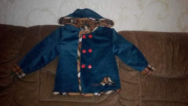 Детская  куртка  по выкройке  футболки