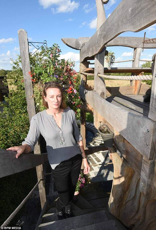 Martine (pictured) said the design was an improvement on the old oak tree, which she dubbed an 'eyesore'