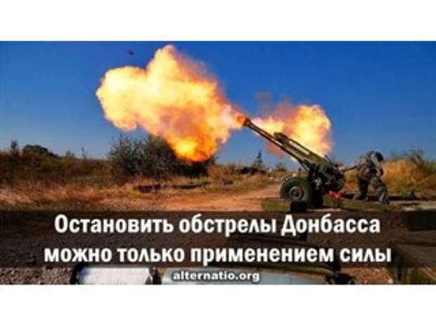 Остановить обстрелы Донбасса можно только применением силы
