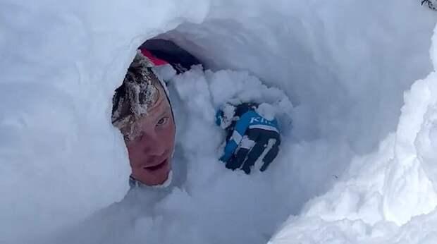 На жутком видео группа отдыхающих оказалась погребена заживо под лавиной в Юте