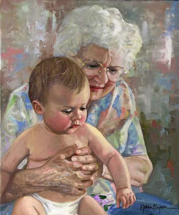 Платить ли бабушке за то, что она смотрит новорожденного внука?