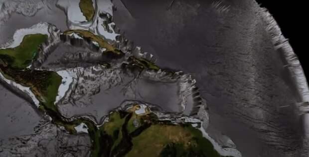 Видео: Как выглядит рельеф океанского дна Земли без воды — 3D-модель планеты