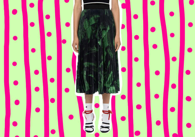 Модный лук: с чем носить юбку плиссе
