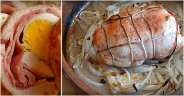 рулет из курицы с яйцом