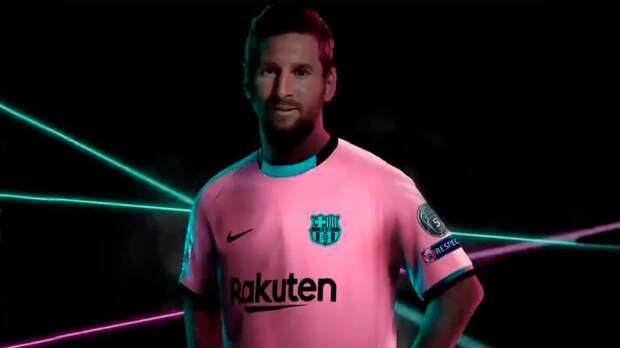Месси в розовом: «Барселона» представила третью форму
