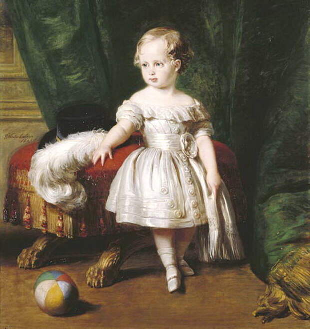 Как на старинном портрете отличить мальчика от девочки, ведь они все в платьях