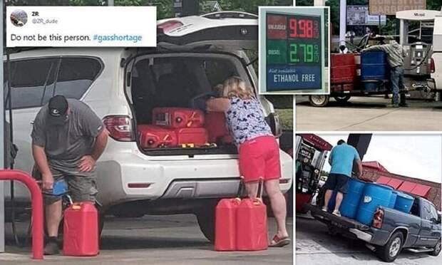 Американцы впанике скупают бензин