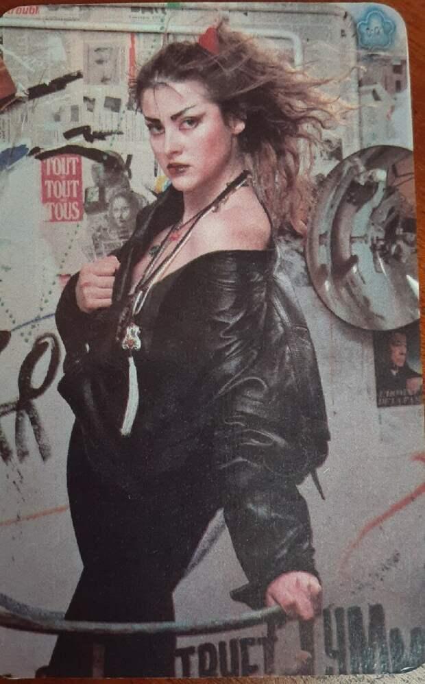 Актриса Елена Караджова. Календарик, 1990 г. Фото: автора.