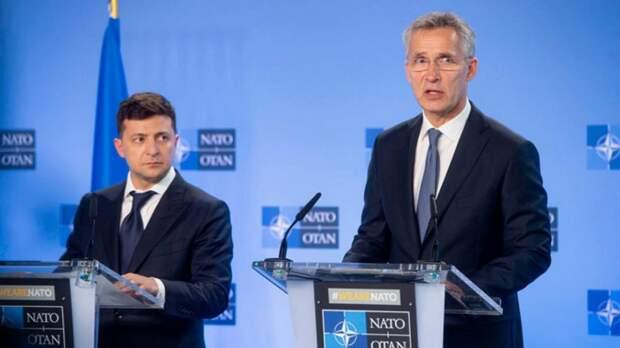 Зеленский потребовал от НАТО немедленно решить украинский вопрос