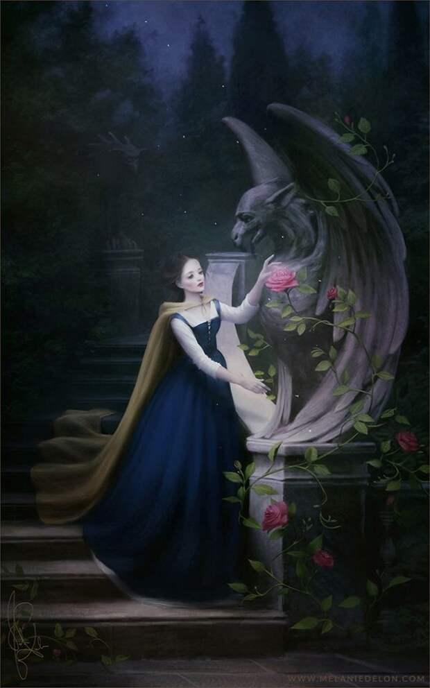Сказочные героини в иллюстрациях художника Mélanie Delon